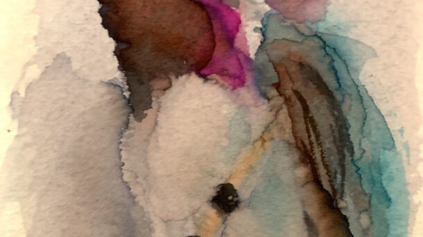 Water color painting of a hummingbird by Kelly Cleveland