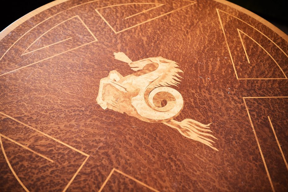 detail of Swedish art deco table