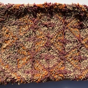 "One of a kind. Moroccan pillow made from antique hand woven rugs, 2 sided pillow - thick plush wool on one side and flat wool on the opposite. 20""x14.5"" SKU 143-02. $115. Insert $50"