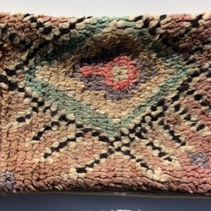 "One of a kind. Moroccan pillow made from antique hand woven rugs, 2 sided pillow - plush wool on one side and flat wool on the opposite. 21""x12.50"". SKU 143-11. $95. Insert $50"