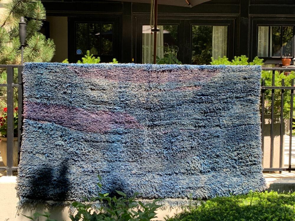 """Vintage Beni M'Guild moroccan rug for sale. Handmade, one-of-a-kind rug. 9'-8"""" x 7'. $2250 unique item SKU 142-10BM"""