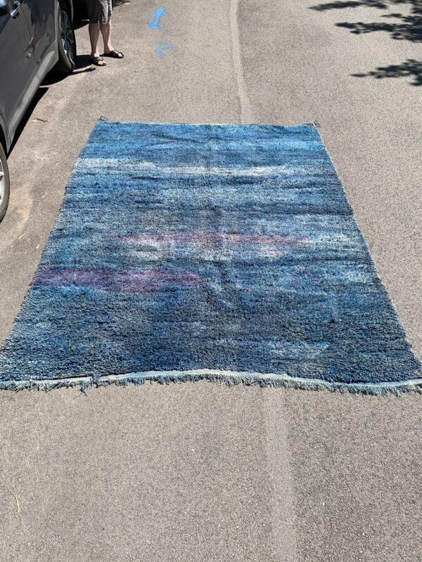 """Vintage Beni M'Guild moroccan rug for sale 9'-8"""" x 7'. $2250 item SKU 142-10BM"""